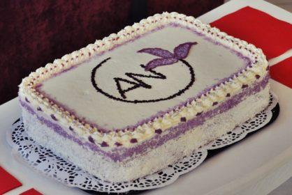 Tort urodzinowy z logo AN