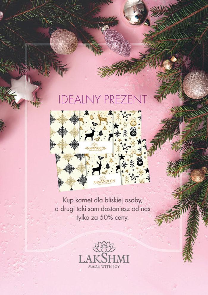 Promocja świąteczna na karnety w ANNA NOCON Kosmetyka Pozytywna